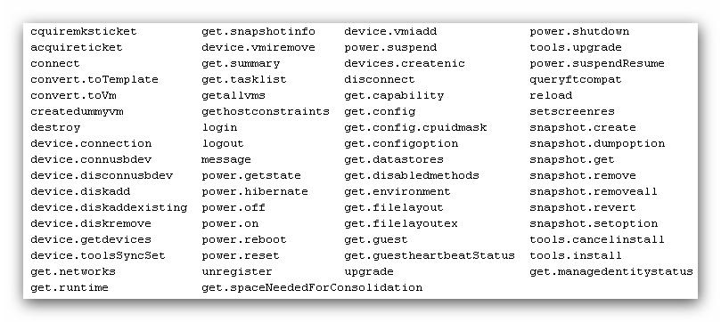 VMware ESXi: comandos para la administración de VMs vía CLI