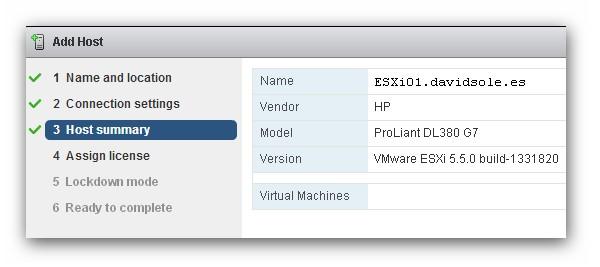 Crear un clúster HA con vSphere Web Client 5.5