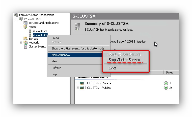 Remover el nodo pasivo de un clúster de replicación continúa CCR en Microsoft Exchange 2007