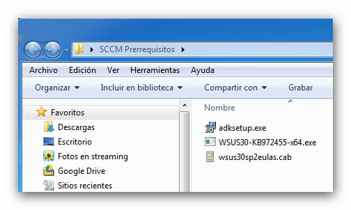 Instalación de System Center Configuration Manager 2012: instalación de prerrequisitos