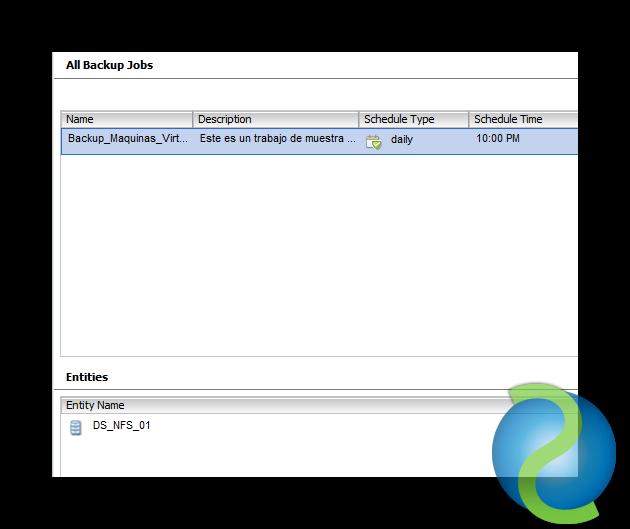 Configurar el backup de las VMs vSphere con la NetApp VSC