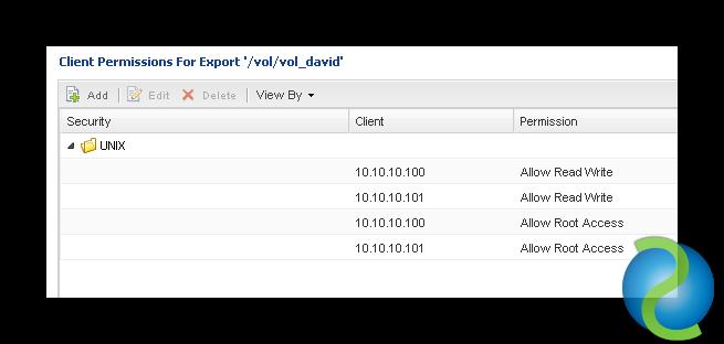 Exportar un volumen NFS editando el archivo exports