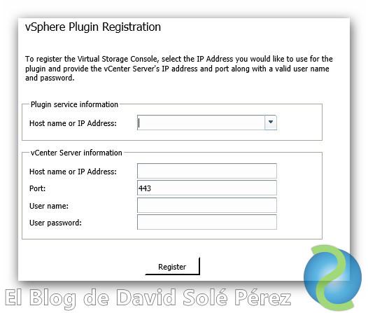 Como cambiar el usuario de la NetApp VSC