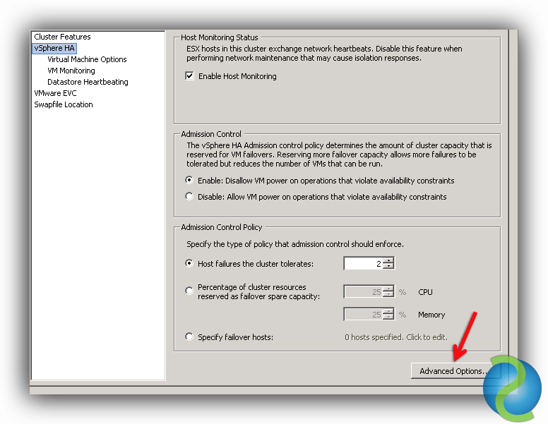 Configurar Isolation Response Address para VMware HA