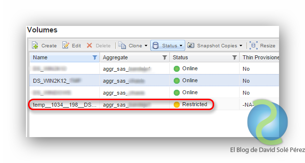 Mover un volumen en NetApp cDOT 8.3