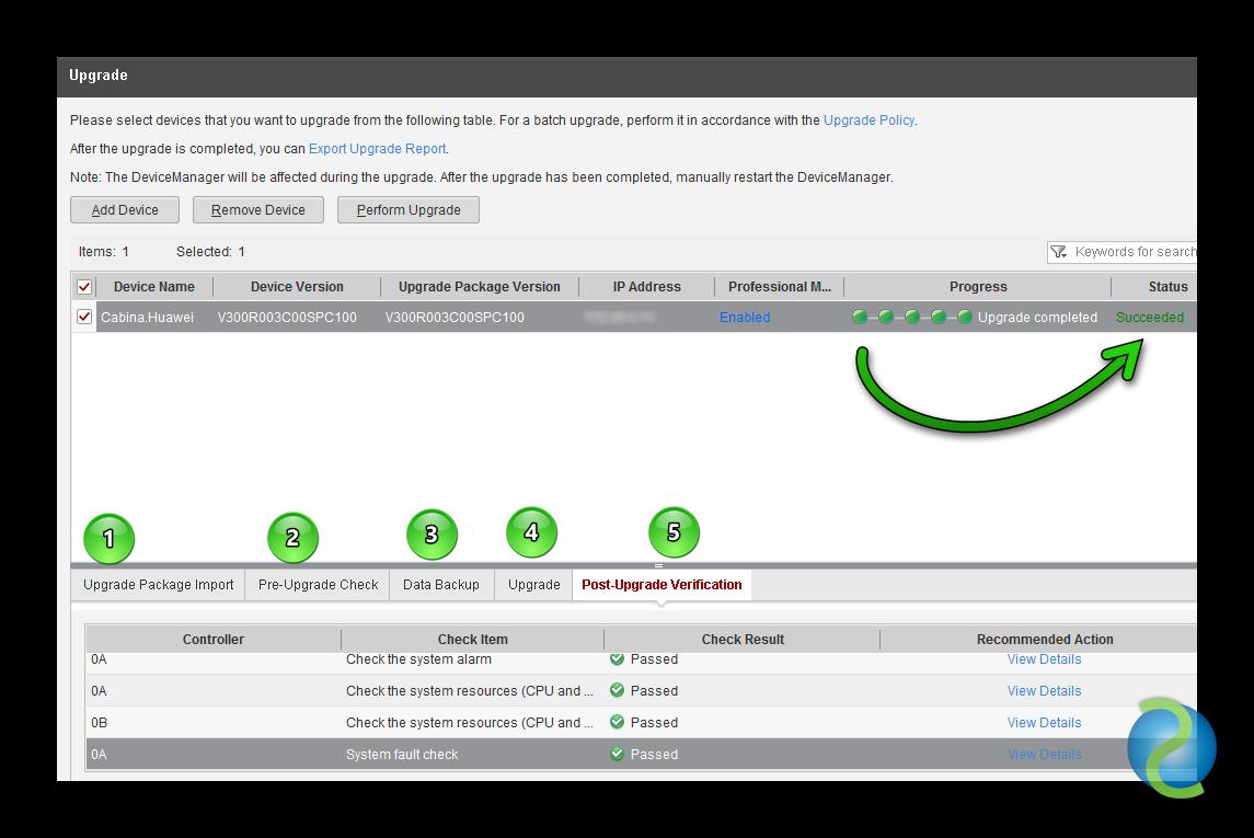 Actualizar el Software OceanStor de Huawei