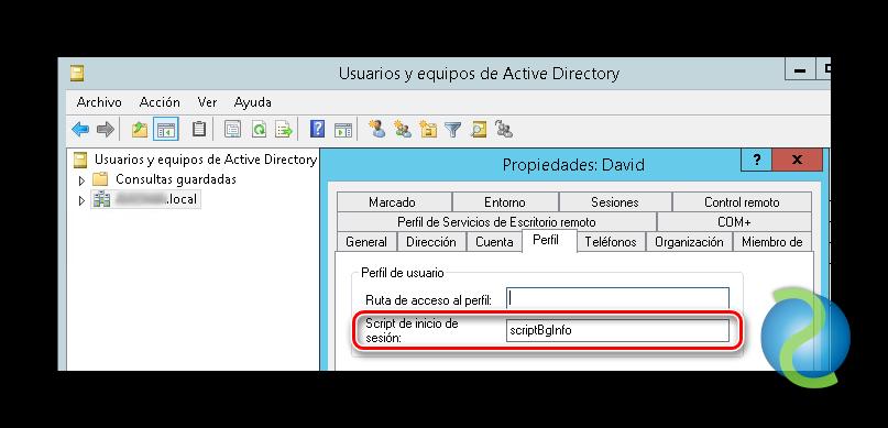 Configurar BGInfo en servidores de Active Directory