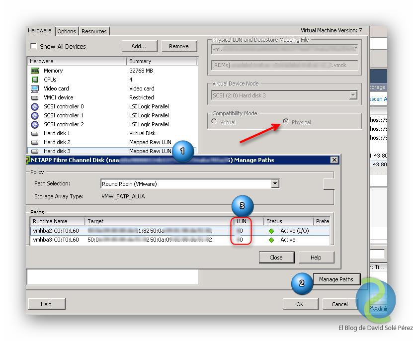 Ampliar una LUN RDM de un Guest Linux en VMware vSphere